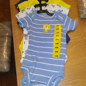 Lot of 4 Baby Boy Onesies 6 months New